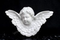 Hlava anděla s křídly 14 x 23 cm